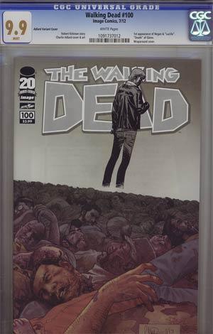 Walking Dead #100 1st Ptg Regular Cover H Charlie Adlard Wraparound CGC 9.9
