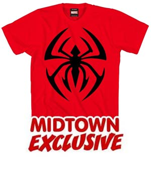 Scarlet Spider Symbol Icona De Scarlet Midtown Exclusive T-Shirt Large