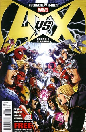Avengers vs X-Men #1 Cover O 7th Ptg Jim Cheung Variant Cover