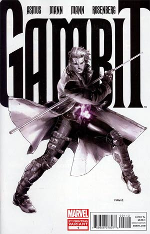 Gambit Vol 5 #1 2nd Ptg Clay Mann Variant Cover