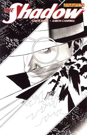 Shadow Vol 5 #5 Incentive John Cassaday Black & White Cover