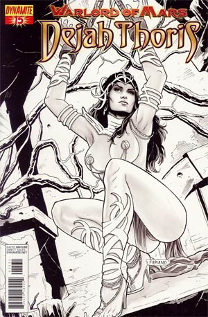 Warlord Of Mars Dejah Thoris #15 Incentive Fabiano Neves Black & White Cover