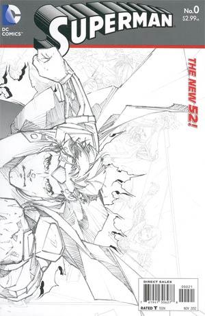 Superman Vol 4 #0 Incentive Kenneth Rocafort Sketch Cover