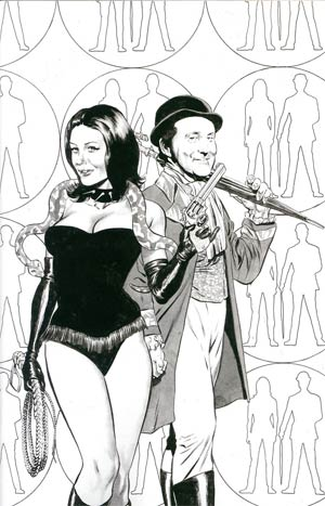Steed And Mrs Peel Vol 2 #1 Incentive Mike Perkins Virgin Sketch Cover