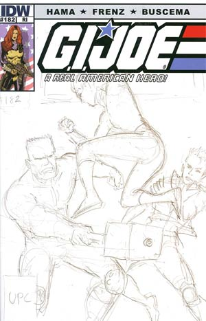 GI Joe A Real American Hero #182 Incentive Larry Hama Sketch Variant Cover