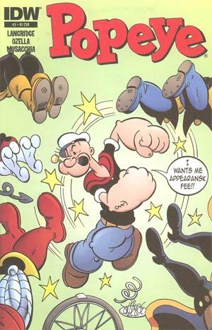 Popeye Vol 3 #5 Incentive John Byrne Variant Cover