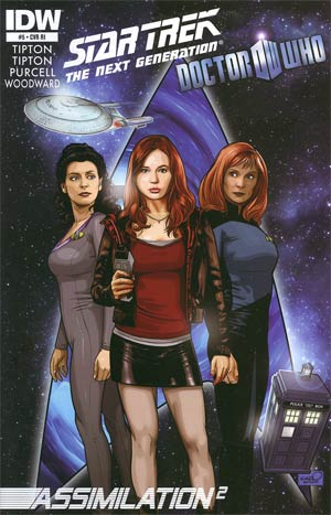 Star Trek The Next Generation Doctor Who Assimilation2 #5 Incentive Sharp Brothers Variant Cover