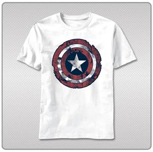 Captain America Battle Shield T-Shirt Large