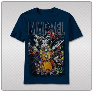 Marvel Grundge Gauntlet T-Shirt Large