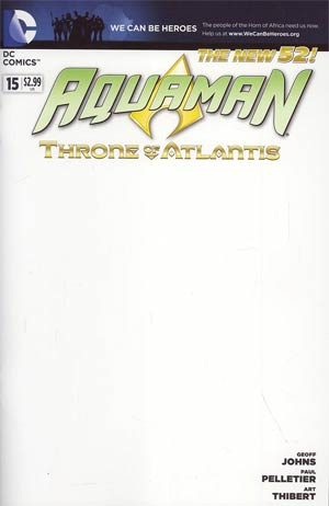 Aquaman Vol 5 #15 Variant We Can Be Heroes Blank Cover (Throne Of Atlantis Part 2)