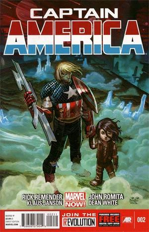 Captain America Vol 7 #2 Cover A 1st Ptg Regular John Romita Jr Cover