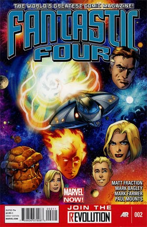Fantastic Four Vol 4 #2 1st Ptg Regular Mark Bagley Cover