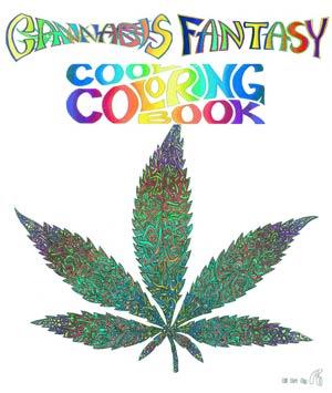 Cannabis Fantasy Cool Coloring Book TP