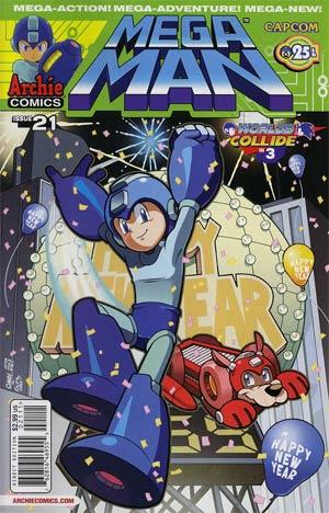 Mega Man Vol 2 #21 Regular Chad Thomas Cover