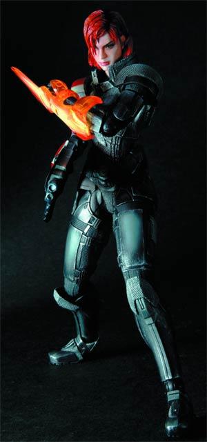 Mass Effect 3 Play Arts Kai Female Commander Shepard Action Figure