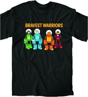 Bravest Warriors Attack Formation Previews Exclusive T-Shirt Large