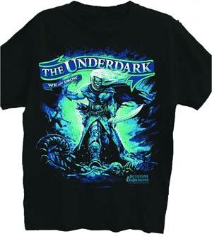 Dungeons & Dragons Raging Drow Black T-Shirt Large