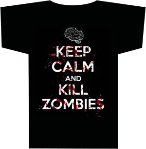 Keep Calm & Kill Zombies T-Shirt Large