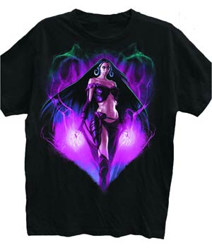 Magic The Gathering Liliana Black T-Shirt Large