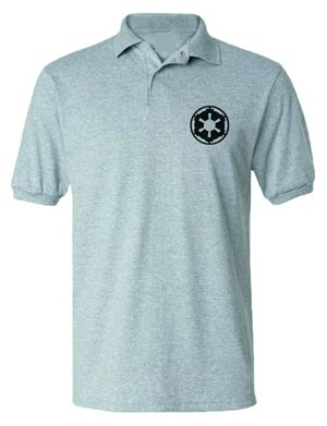 Star Wars Imperial Symbol Grey Polo Large