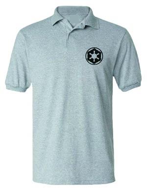 Star Wars Imperial Symbol Grey Polo Medium