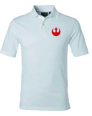 Star Wars Rebel Symbol White Polo Medium