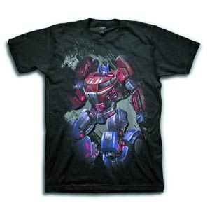Transformers Fall Of Cybertron The Last Prime Previews Exclusive Black T-Shirt Large
