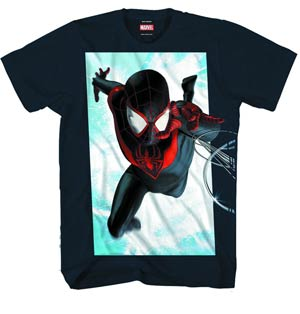 Spider-Man Ultimate Reach Previews Exclusive Black T-Shirt Large