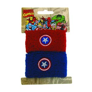 Marvel Heroes Double Wristband Set - Captain America
