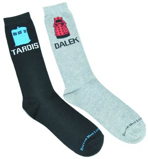 Doctor Who Crew Socks 2-Pack - TARDIS & Dalek