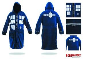 Doctor Who Bathrobe - Hooded TARDIS