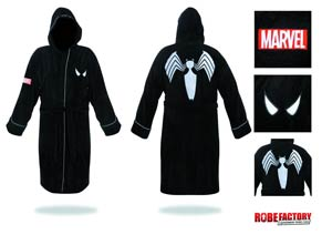 Spider-Man Bathrobe - Black Hooded Cotton