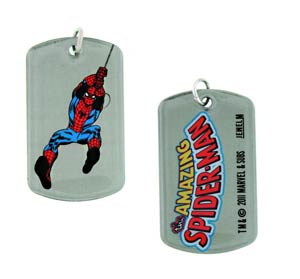 Marvel Heroes Dog Tag - Spider-Man Swinging Double-Sided