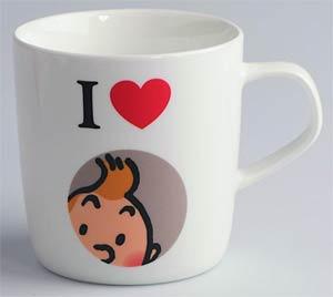 Tintin Mug - I Love Tintin
