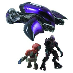 Halo 4 Die-Cast Ghost With 2-Inch Figures