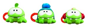 Cut The Rope 3-Inch Clip-On Plush With Sound Assortment Case