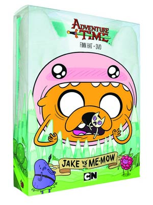 Adventure Time Jake vs Me-Mow DVD With Finn Hat
