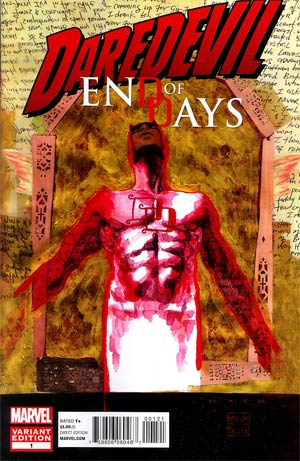 Daredevil End Of Days #1 Cover B Incentive David Mack Variant Cover