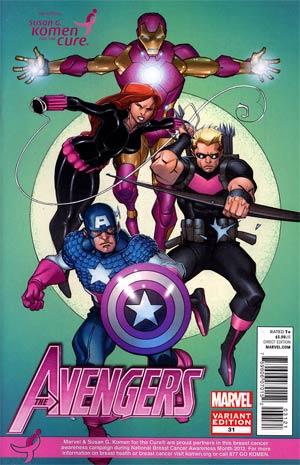 Avengers Vol 4 #31 Variant Susan Komen Cover (Avengers vs X-Men Fallout Tie-In)