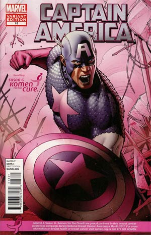 Captain America Vol 6 #18 Variant Susan Komen Cover