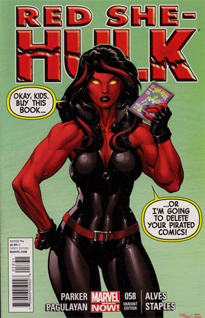 Red She-Hulk #58 Incentive Ed McGuinness Variant Cover