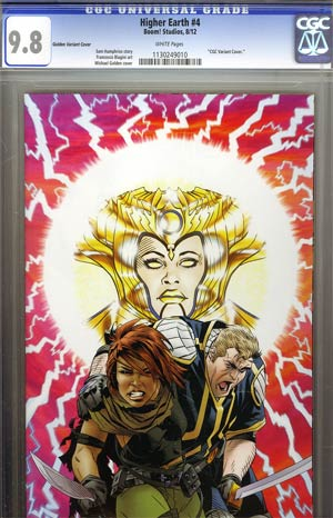 Higher Earth #4 Incentive Michael Golden Virgin Variant Cover CGC 9.8