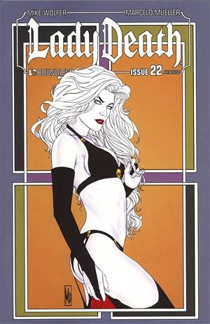 Lady Death Vol 3 #22 Incentive Art Deco Variant Cover