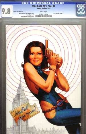 Steed And Mrs Peel Vol 2 #0 Incentive Joseph Michael Linsner Virgin Variant Cover CGC 9.8
