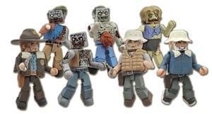 Walking Dead Minimates Series 1 Variant Winter Coat Dale & Female Zombie 2-Pack