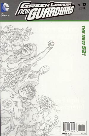 Green Lantern New Guardians #13 Incentive Ivan Reis Sketch Cover (Rise Of The Third Army Tie-In)