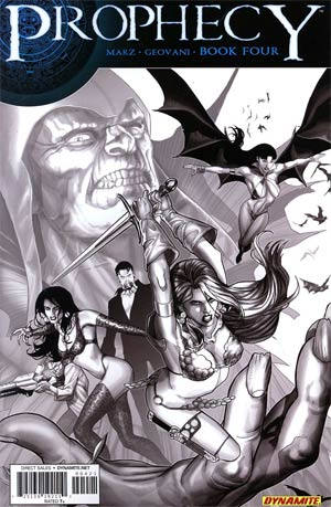 Prophecy #4 Incentive Paul Renaud Black & White Cover