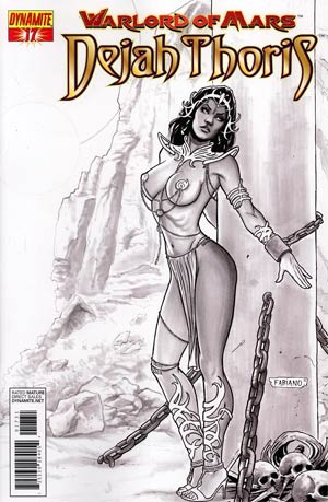 Warlord Of Mars Dejah Thoris #17 Incentive Fabiano Neves Black & White Cover