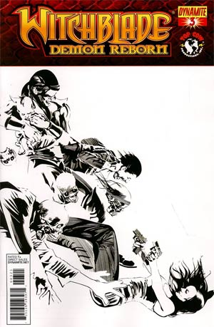 Witchblade Demon Reborn #3 Incentive Dennis Calero Black & White Cover