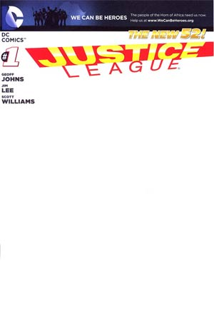 Justice League Vol 2 #1 Variant Blank Cover